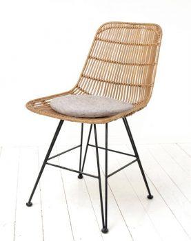 HK-living sier kussentje stoel kussen licht grijs Ø 35 cm-7792