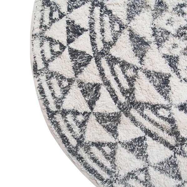 hkliving-badmat-rond-zwart-ecru-patroon-groot-120cm