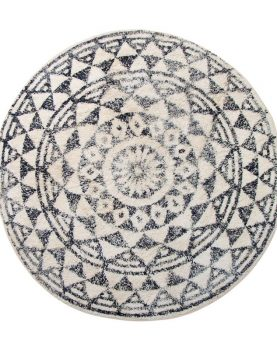 hk-living-badmat-rond-groot-zwart-wit-patroon-tap0851