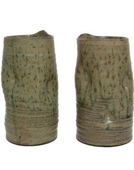 hkliving-vaas-keramiek-groen-bruin-verwrongen-cer0041