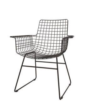 hk-living-stoel-eetkamerstoel-draadstaal-armleuningen-zwart-fur0025