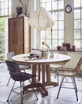 HKliving tafel rond teak hout 140x140x75cm-13270