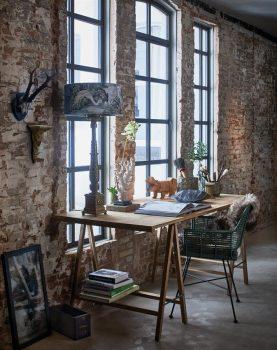 hkliving-houten-tafel-bureau-eetafel-schragen-teak-hout-industrieel