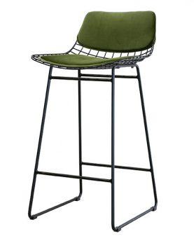 comfort-kitkussentjes-draadstoel-barkruk-draadstaal-fluweel-groen-tot4018