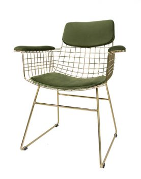 hkliving-comfortkit-kussenset-fluweel-groen-armleuningen-draadstoel-tot4014