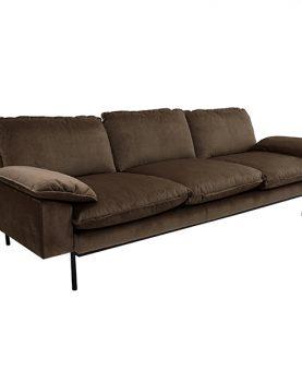 hk-living-sofa-bank-retro-hazel-bruin-driezits-3-zits-zijzicht-225x83x95cm-MZM4637