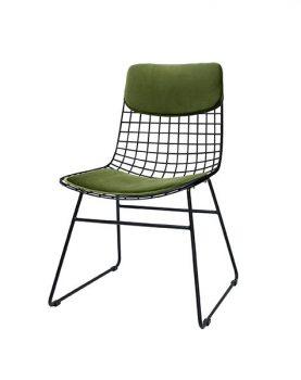 hkliving-comfortkit-kussenset-metalen-draadstoel-fluweel-groen-TOT4017