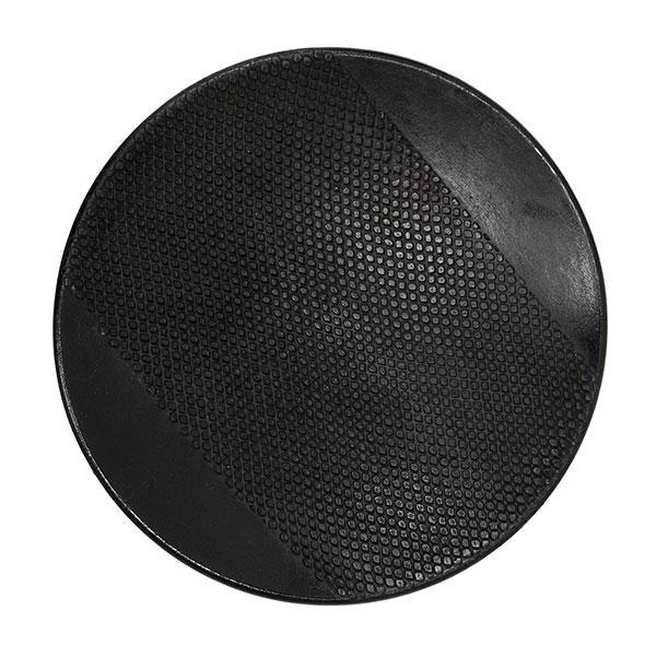 hkliving-dienblad-rond-zwart-aardewerk-chulucanas-30x30x4cm-ACE6678