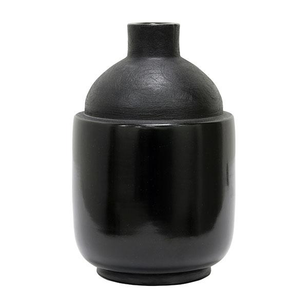 hkliving-vaas-zwart-aardewerk-chuculanas-peru-M-medium-16,5x16,5x26cm-ACE6680