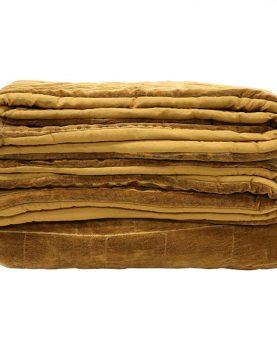 hkliving-bedsprei-gevoerd-stonewashed-velvet-oker-katoen-230x250cm-TTS1004
