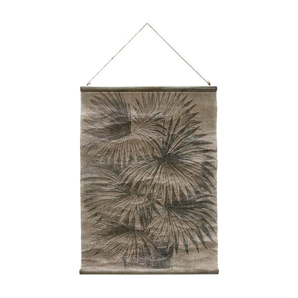 hkliving-wandkaart-schoolplaat-vintage-palmbladeren-awd8855-60x83cm