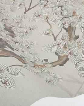 hkliving-behang-retro-linnen-cherry-tree