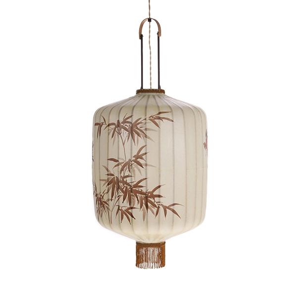 hkliving-lantaarn-hanglamp-handbeschilderd-patroon-bladeren-VOL5028