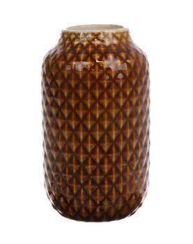 hkliving-vaasje-bruin-geglazuurd-10x10x18cm-ace6703
