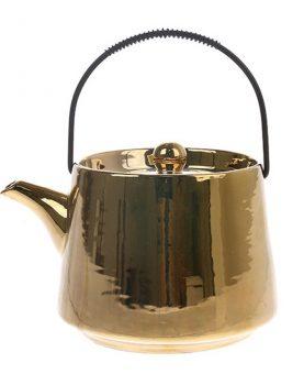 hkliving-theepot-goud-bold-basic-keramiek