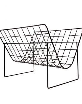 hkliving-tijdschriftenrek-metaal-mat-zwart-AHA5504-40x32x29cm