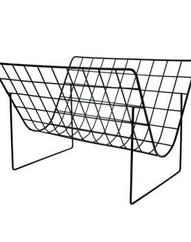 hkliving-tijdschriftenrek-zwart-mat-metaal-aha5504