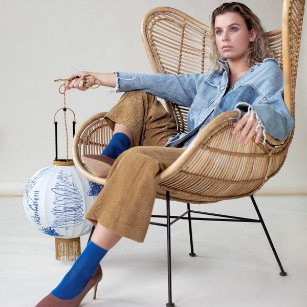 HKliving rotan stoel egg chair naturel-14604