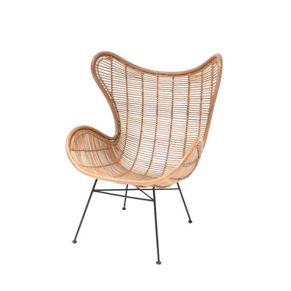 HKliving rotan stoel egg chair naturel-0