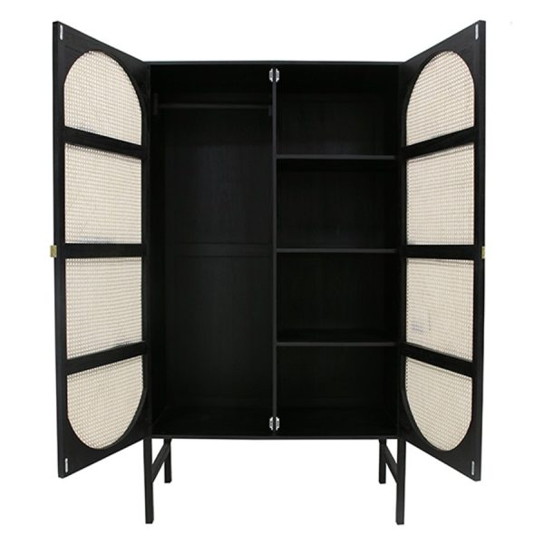 HKliving-kledingkast-zwart-naturel-webbing-MKA1920-125x50x200cm