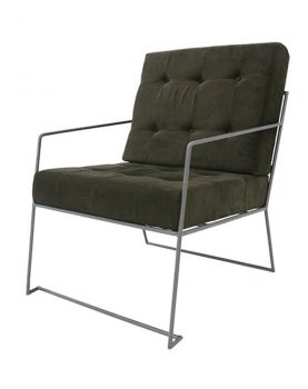 HK-living lounge stoel donkergroen corduroy ribstof-0