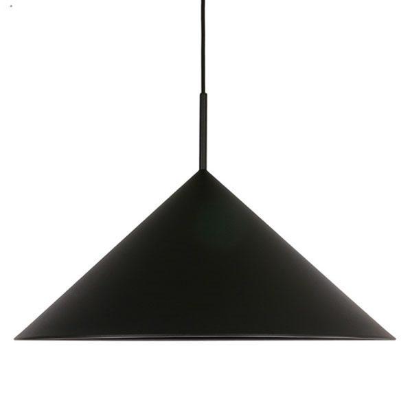 HKliving hanglamp triangle mat zwart metaal-0