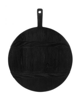 hkliving-broodplank-rond-zwart-medium-46x35,5x1,6cm-ABR2213