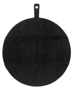 hkliving-broodplank-zwart-rond-L-large-46,5x49,5x1,6cm-ABR2214