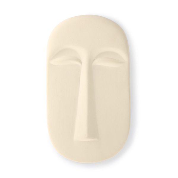 hkliving-face-wall-ornament-afrikaans masker-aardewerk-mat-wit-large-AWD8886