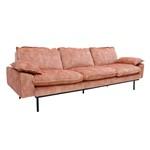 HK-living bank sofa retro fluweel oud roze 4-zits 245x83x95cm-26760