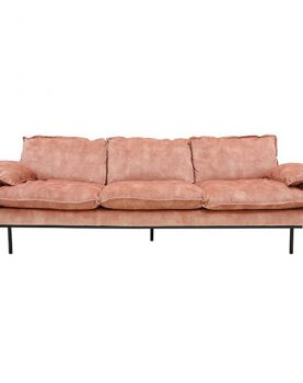 HK-living bank sofa retro fluweel oud roze 4-zits 245x83x95cm-0