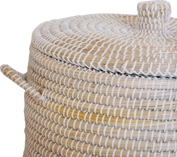 SILT 'n Pure mand set zeegras met handgrepen, naturel wit M en L, 47 cm 40 cm-26780
