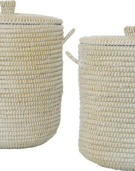 SILT 'n Pure mand set zeegras met handgrepen, naturel wit M en L, 47 cm 40 cm-0