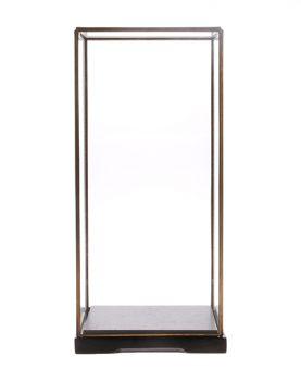 HKliving Glazen stolp M transparant glas metaal 18x18x40cm-26934