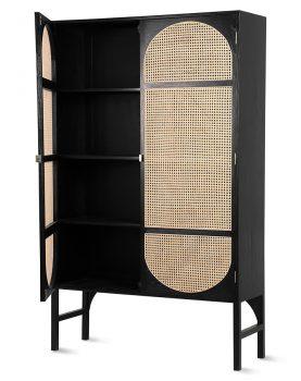 hkliving-kast-kabinetkast-retro-webbing-zwart-planken-mka1924
