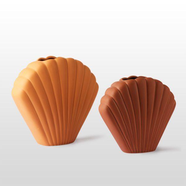 hkliving-vaas-schelp-bruin-medium-terra-ace6841