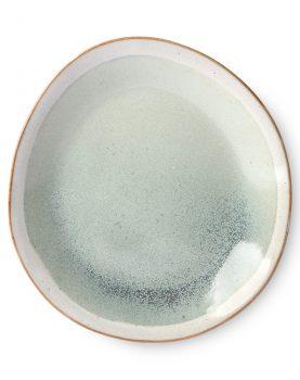 HKliving seventies bord mist groen crème ø22cm -27324