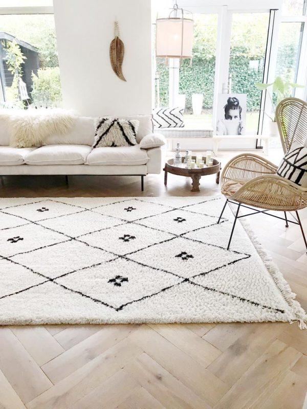 HK-living bank sofa retro velvet creme wit 3-zits 225x83x95cm. -27549