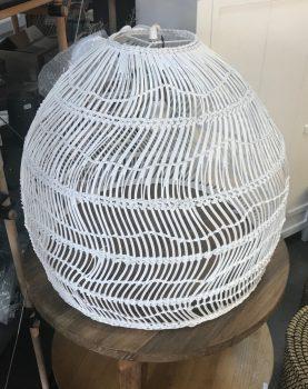 HKliving hanglamp riet wit 60x60x50cm (outlet)-0