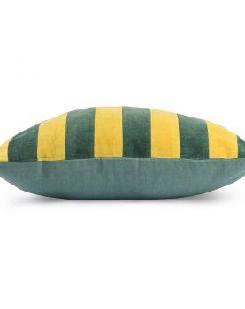 hkliving-kussen-gestreept-groen-mosterd-velvet-tku2076