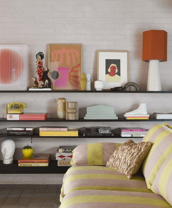 floral jacquard weave cushion burgundy/yellow (40x30)-28823