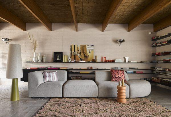 HKliving hand knotted woolen berber rug terra/orange (250x350)-28934