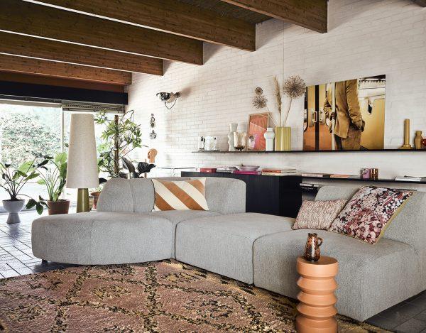 HKliving hand knotted woolen berber rug terra/orange (250x350)-28933