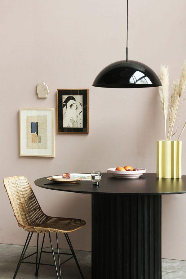 HKliving acrylic cupola hanging lamp black-29028