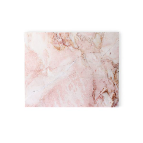 marble cutting board pink polished-0