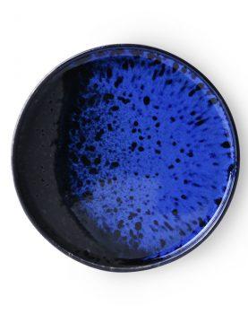 kyoto ceramics: dessert plate cobalt/black-0