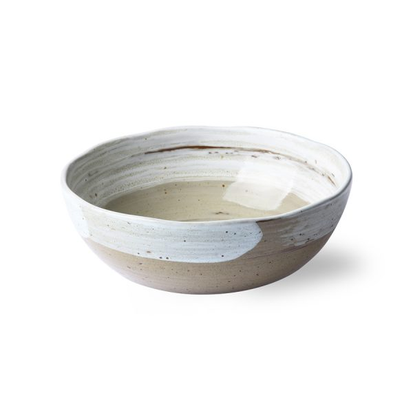 kyoto ceramics: brushed noodle bowl-27816
