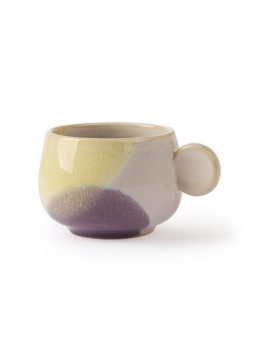 gallery ceramics: coffee cup yellow/lilac-0