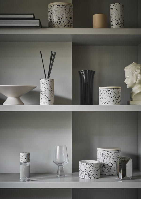 flower vase S matt black-27895
