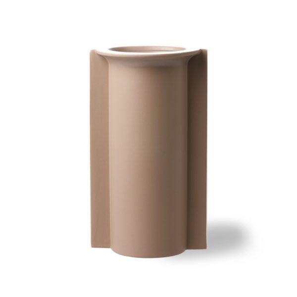 mold shape flower vase L matt mocha-0
